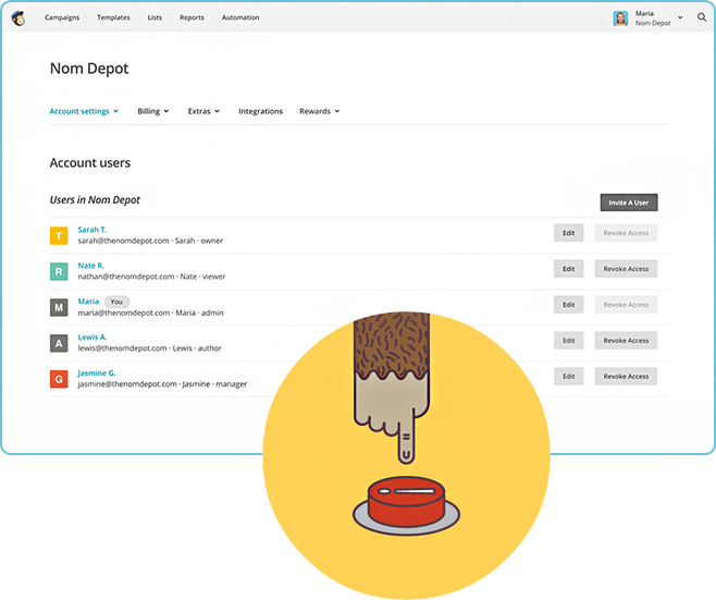 CloudCart има интеграция с MailChimp
