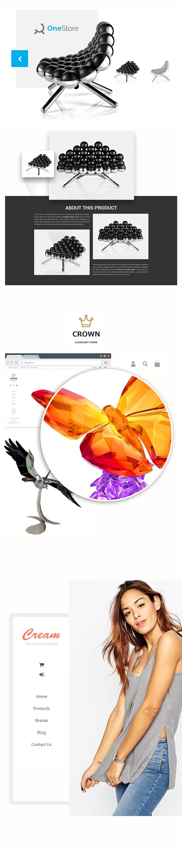Безплатен дизайн за електронен магазин от CloudCart