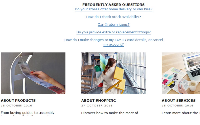 sample ecommerce faq page