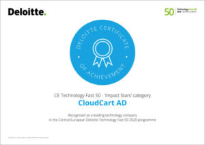 CloudCart is ranked in the Deloitte Technology Fast 50 Central Europe ranking